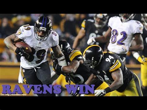 ravens beat steelers   wild card steelers  ravens