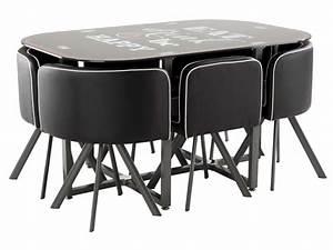 Ensemble Table Et Chaise Cuisine : ensemble table 6 chaises kooc coloris noir vente de ensemble table et chaise conforama ~ Melissatoandfro.com Idées de Décoration