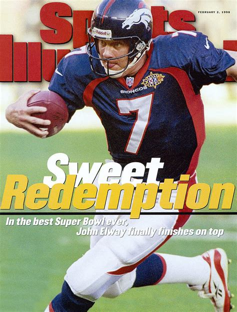 Denver Broncos Qb John Elway Super Bowl Xxxii Sports