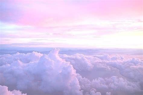 Beautiful Fancy Blue Pink Purple Clouds Colorful Beach