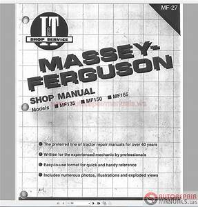 Massey F 122 130 135 150 165 175 180 Workshop Manual