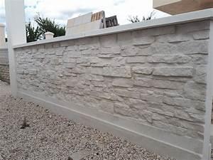 Cloture Béton Préfabriqué Tarif : mur en l pr fabriqu pour cl ture finition pierre s che ~ Edinachiropracticcenter.com Idées de Décoration