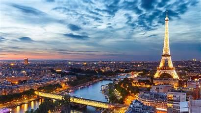 Paris Sunset Tower Eiffel Aerial 4k Travel