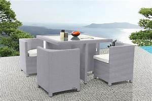 salon de jardin 4 places en resine tressee samoa gris With beautiful canape d angle exterieur resine 4 salon de jardin avec fauteuil royal sofa idee de