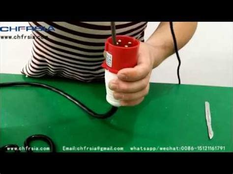Industrial Plugs Wiring Demonstration Youtube