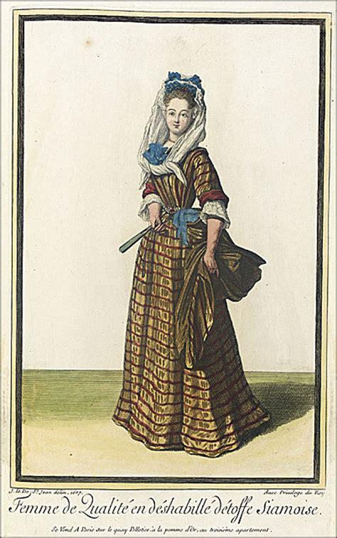 qualité femme de chambre 1687femme de qualité en déshabillé détoffe siamoise