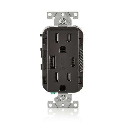 Black Electrical Outlets Receptacles Wiring Devices