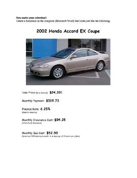 personal finance car buying project by brad richardson tpt