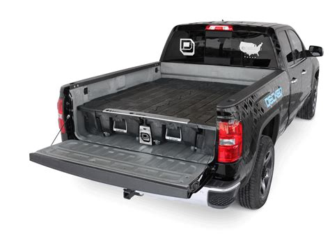 decked pickup truck bed tool boxes  bed organizer decked