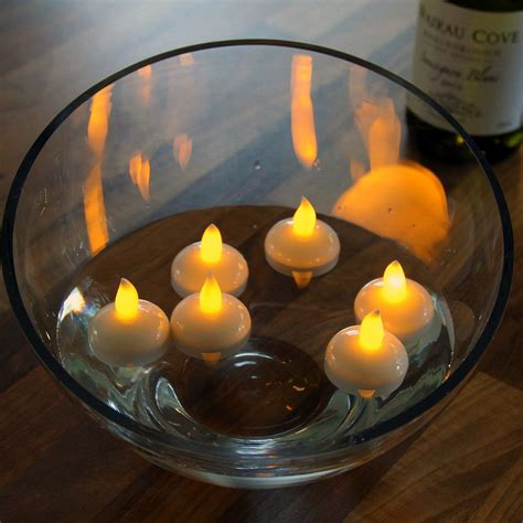 amber led tea lights 12 x waterproof floating flickering amber led mini fairy