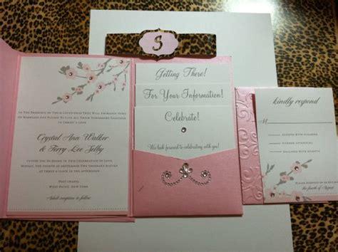 folded wedding invitations with pockets templates pocket