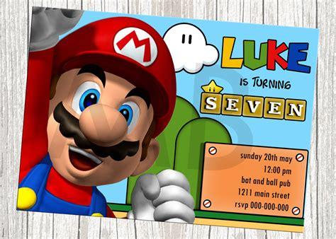 Mario Bros Invitations
