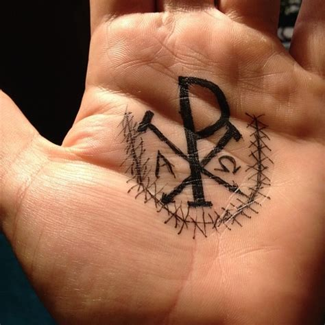 chi rho tattoo designs  meanings