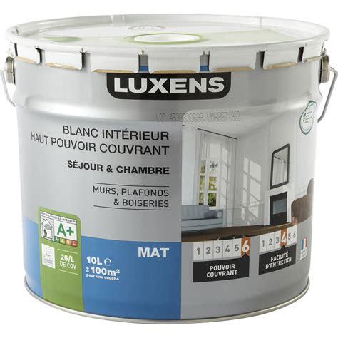 peinture blanche mur plafond et boiserie haut pouvoir couvrant luxens mat 10 l leroy merlin