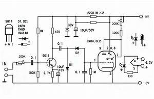6e2 em84 em87 em800 6uh6 tube magic eye vu meter audio With magic eye circuit