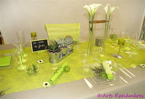 deco table vert et blanc d 233 coration de table vert et blanc
