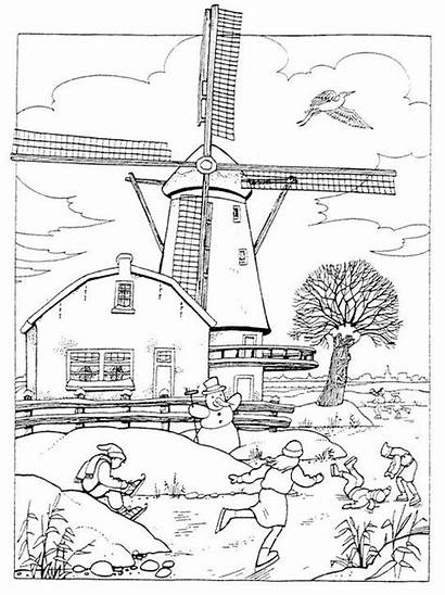Coloring Wind Energy Windmill Pages Stress