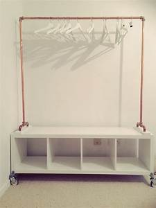 Ikea Kallax Diy : diy copper hanging rail with ikea kallax base anne fleur op kamers pinterest copper diy ~ Orissabook.com Haus und Dekorationen