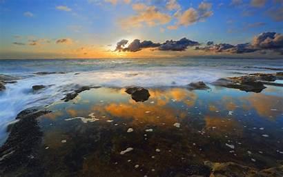 Ocean 4k Water Sea Wallpapers Sunset Reflection