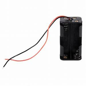 Black Tow Layers 4 X 1 5v Aa Batteries Battery Holder Case