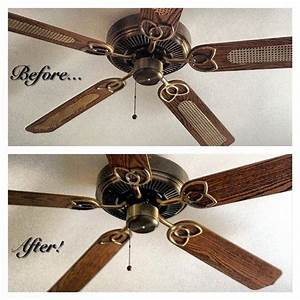 Revamp An Old Ceiling Fan  Just Flip The Blades  You Can Also Paint The Base And  Or Blades For A