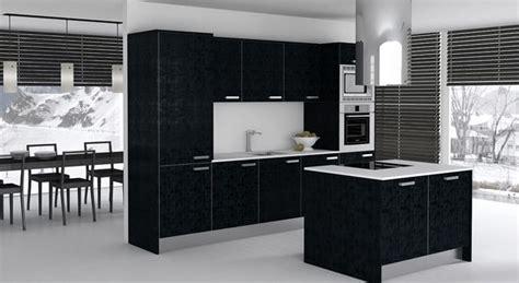 las mejores cocinas decoradas en color negro