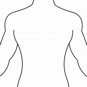 Human Body Outline Front And Back Drawing - Health Token - Clipart Best