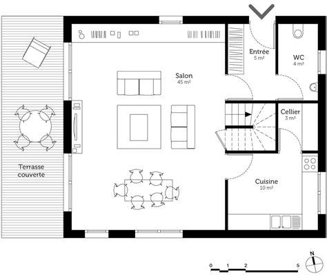 plan de cuisine gratuit plan maison à étage 150 m ooreka