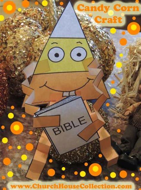 candy corn loves  read  bible cutout craft