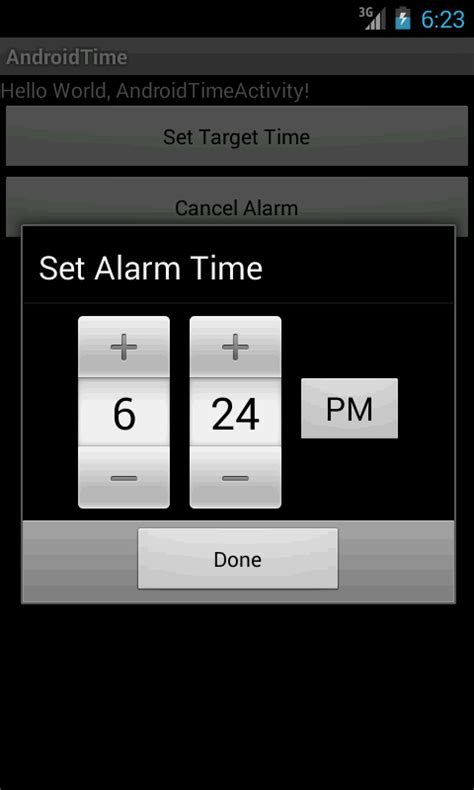 android alarm alarm using timepicker androidcheckinfo