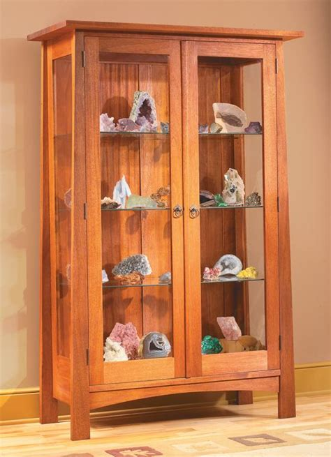 wood glass display cabinet plans
