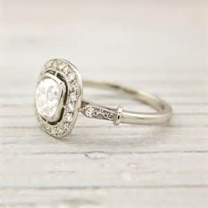 antique cushion cut engagement rings vintage cushion cut engagement ring and they lived happily after
