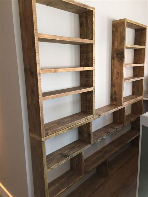 huge reclaimed scaffold board shelving unit   paddle