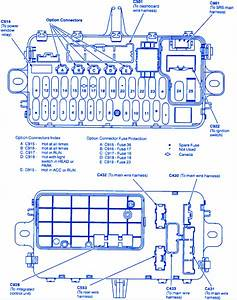 Honda Del Sol 1992 Ignition Switch Fuse Box  Block Circuit Breaker Diagram