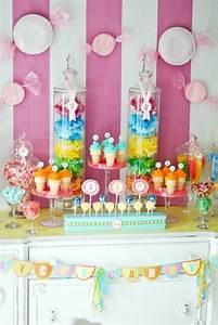 Deco Bonbon Anniversaire : candy bar multicolore anniversaire enfants kids birthday f te bonbons f tes de filles et ~ Melissatoandfro.com Idées de Décoration
