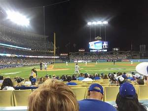 Braves Seating Chart View Dodger Stadium Section 10fd Row C Seat 6 Los Angeles