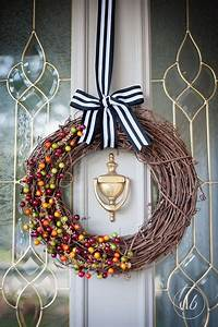 hometalk easy grapevine and berry fall wreath