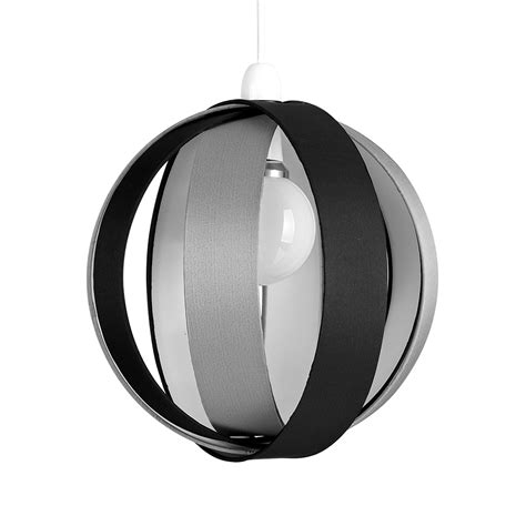 modern black grey fabric ceiling light pendant