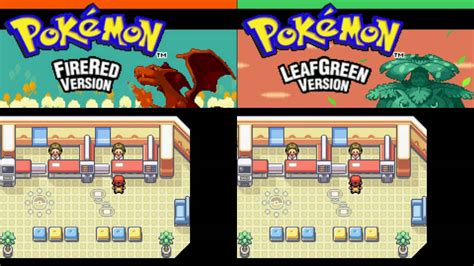 pokemon fire redleaf green   starter pokemons