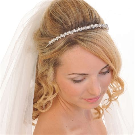 bridesmaids necklaces kirsten pearl and diamante hair band wedding and bridal hair accessories