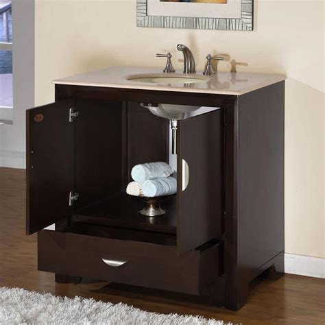 Rounded Bathroom Vanity by 36 Quot Modern Single Bathroom Vanity With Sink Espresso
