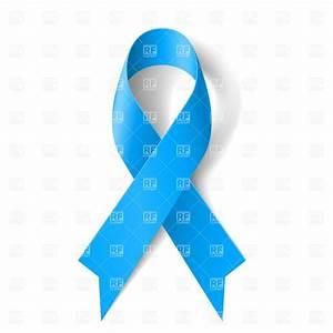 Blue awareness ribbon on white background Vector Image ...