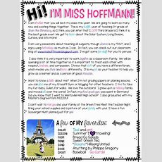 25+ Best Ideas About Student Welcome Letters On Pinterest  Classroom Welcome Letter, Welcome
