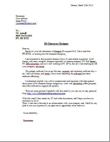 contoh surat lamaran kerja bahasa inggris trik cari kerja