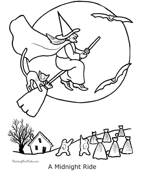 coloring pages  halloween witch