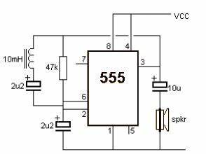 metal detector using 555 timer suite electronic schematic With 555 timer 8