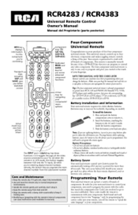 rca universal remote manual