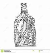 Whisky Bottle Coloring Tattoo Pages Template Dreamstime sketch template