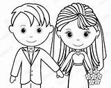 Coloring Bride Groom Printable Pages Personalized Activity Pdf Childrens Favor Getcolorings Etsy Getdrawings sketch template