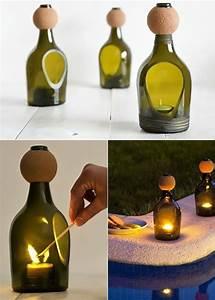 Basteln Mit Glasflaschen : inspirierende bastel und upcycling ideen mit weinflaschen ~ Watch28wear.com Haus und Dekorationen